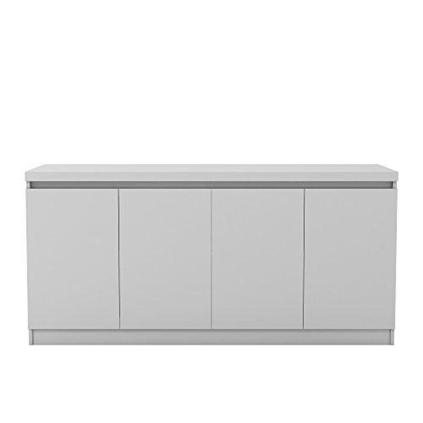 Manhattan Comfort Viennese Collection 6 Shelf Gloss Finished Long Buffet Cabinet / Dining Console with 4 Doors - Buffets Sideboards & China