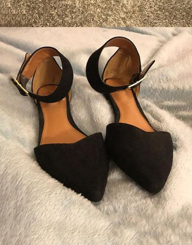 Black Pointed Toe Ballerina