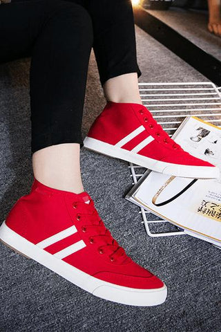 Stylish & Comfy Red Sneakers