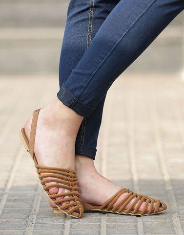 Sling Caged Flats