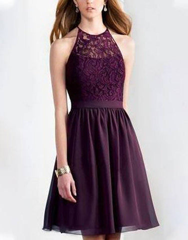 Stylish Lace Knotted Flare Dress