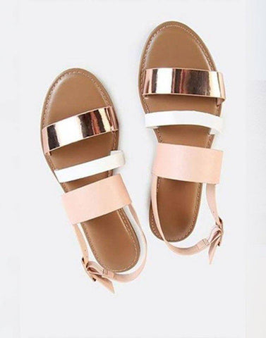 Triple Strappy Flats