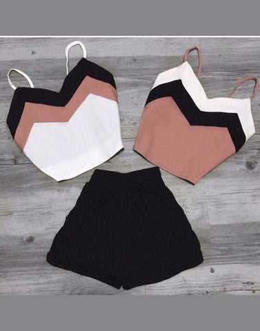 Twiny Crop Tops With Shorts