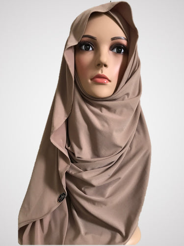 Antique Brass Nude stretchy (KOR) instant hijab CF