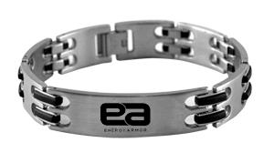 Men's Stainless Steel Negative Ion Bracelet