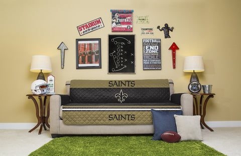New Orleans Saints Furniture Protectors with Elastic Straps
