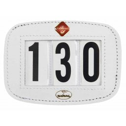 Hamag LeMieux Saddle Pad Number Holder White