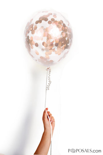 Pre-Filled Rose Gold Confetti Balloon Pack