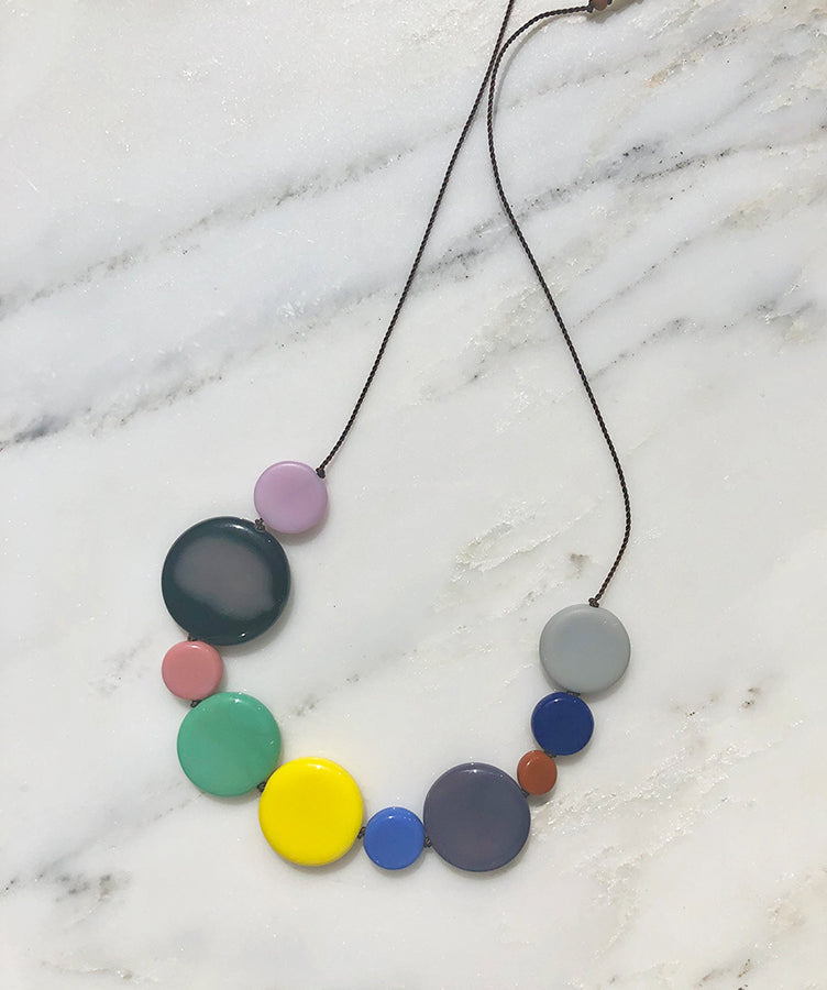 I. Ronni Kappos Pastel Disks Necklace