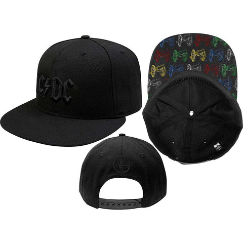 AC/DC - Black On Black Snapback Cap (UK Import)