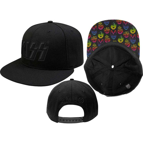 KISS - Black On Black Snapback Cap (UK Import)