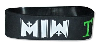 Motionless In White - Haunted Rubber Bracelet Wristband