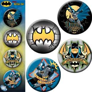 Batman - Dark Knight Gotham - Pinback Button Badge Set