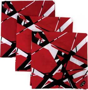 Van Halen - Bandana - Stripes Red Black