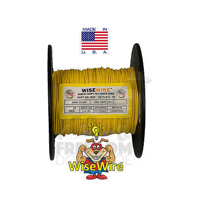 World's Strongest Dog Fence Wire 20 Gauge Solid Core 500' Feet WiseWire + Splice
