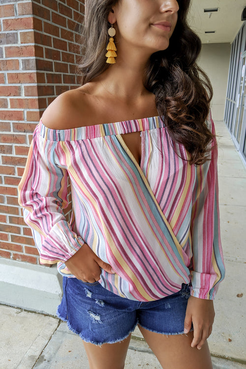 Follow the Rainbow Striped Top - Multi