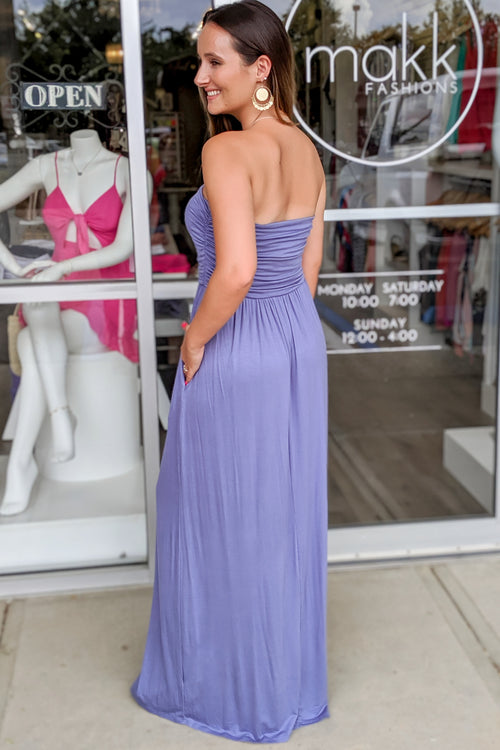 Simply Sophisticated Strapless Maxi - Denim