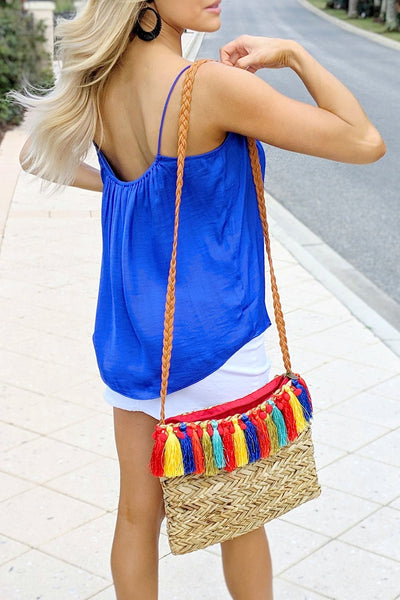 Summer Vibes Tank Top - Capri Blue