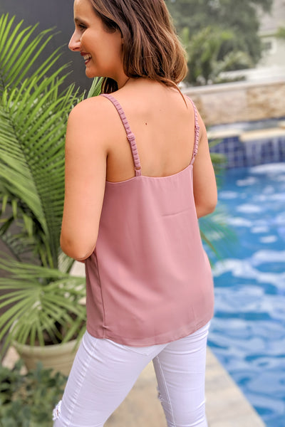 Wine And Dine Tank Top - Mystic Mauve