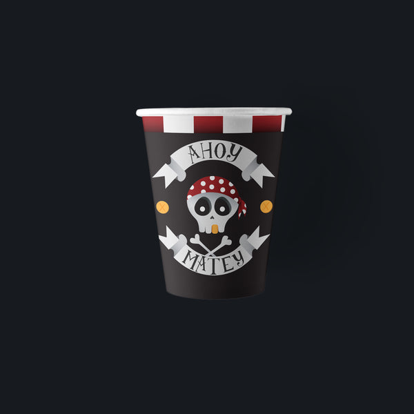 Ahoy Matey 9 oz. Pirate Party Paper Cups