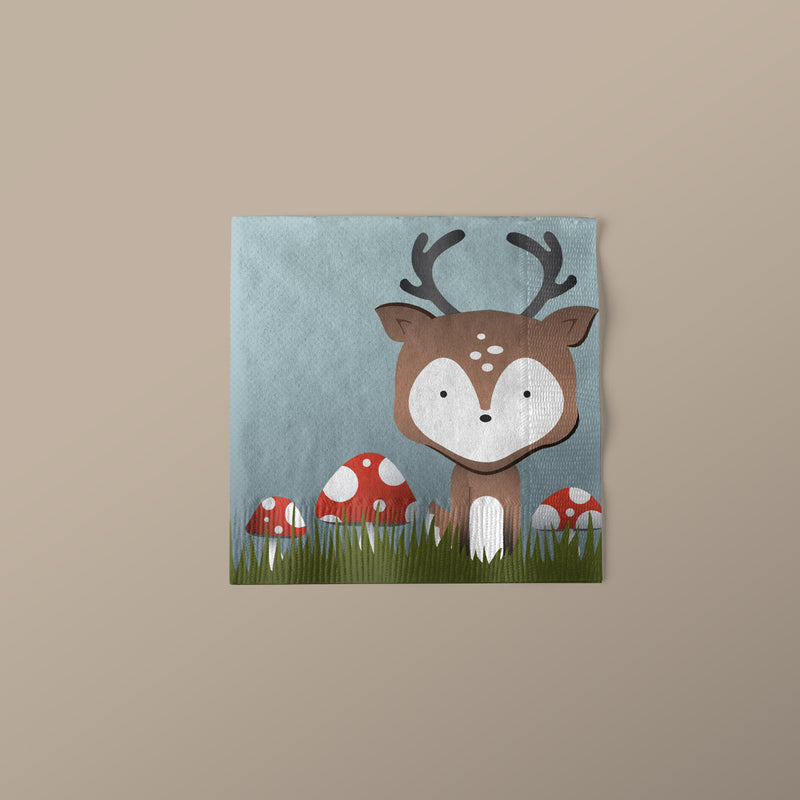 Woodland Creature Beverage Napkins