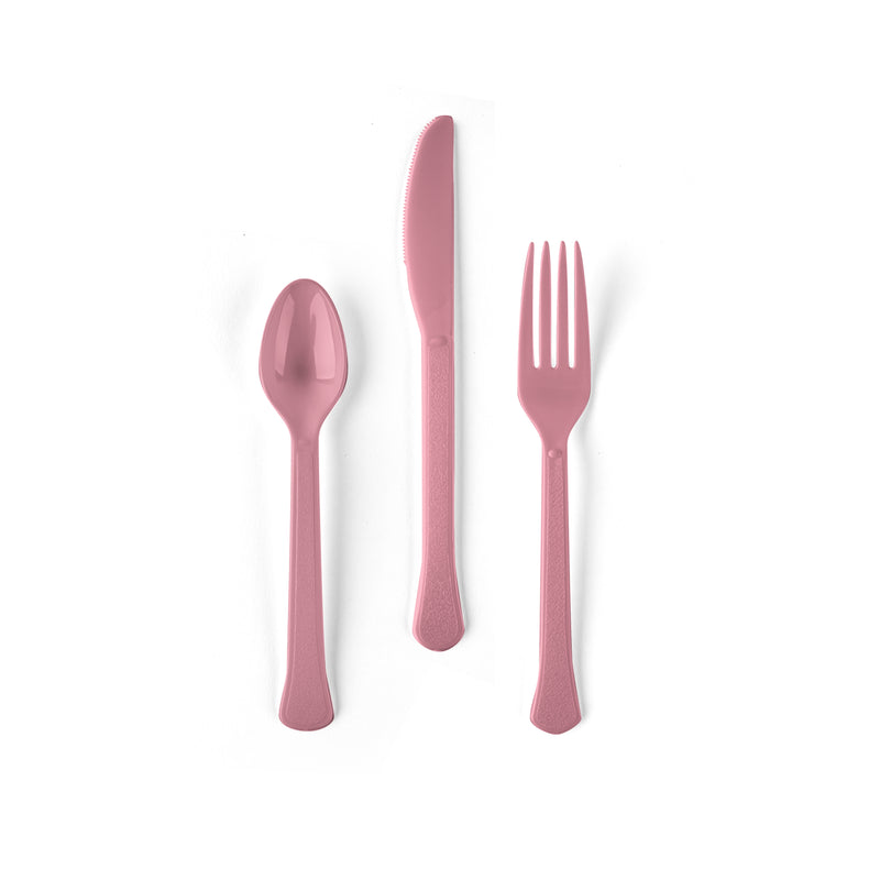 Pink Flatware Set - Fork, Knife and Spoon