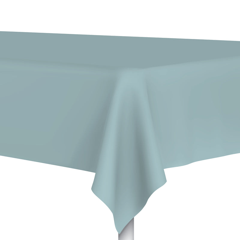 Blue Plastic Tablecloth