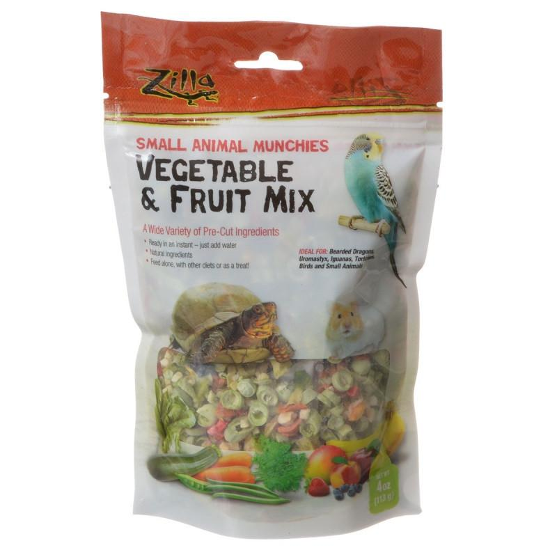 Zilla Small Animal Munchies - Vegetable & Fruit Mix 4 oz