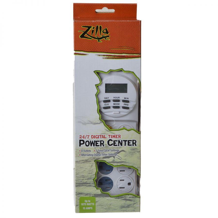 Zilla 24/7 Digital Timer Power Center Up to 1875 Watts - (15 Amps)