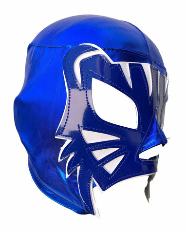 BLUE PANTHER (pro-LYCRA) Adult Lucha Libre Wrestling Mask - Blue