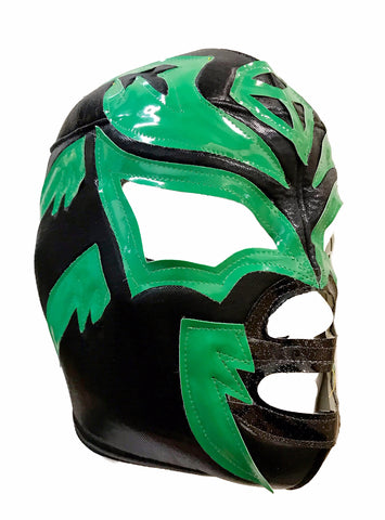 SOMBRA Lucha Libre Wrestling Mask (pro-fit) Black/Green