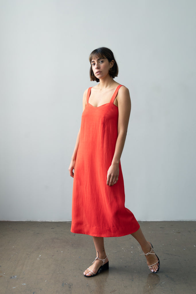 Wave Dress in Poppy