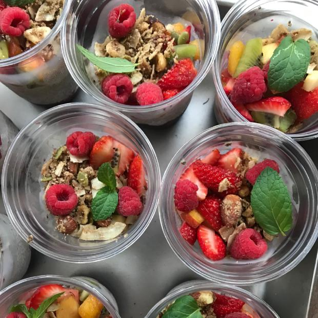 Coconut Chia Pudding Cups + Fresh Fruit