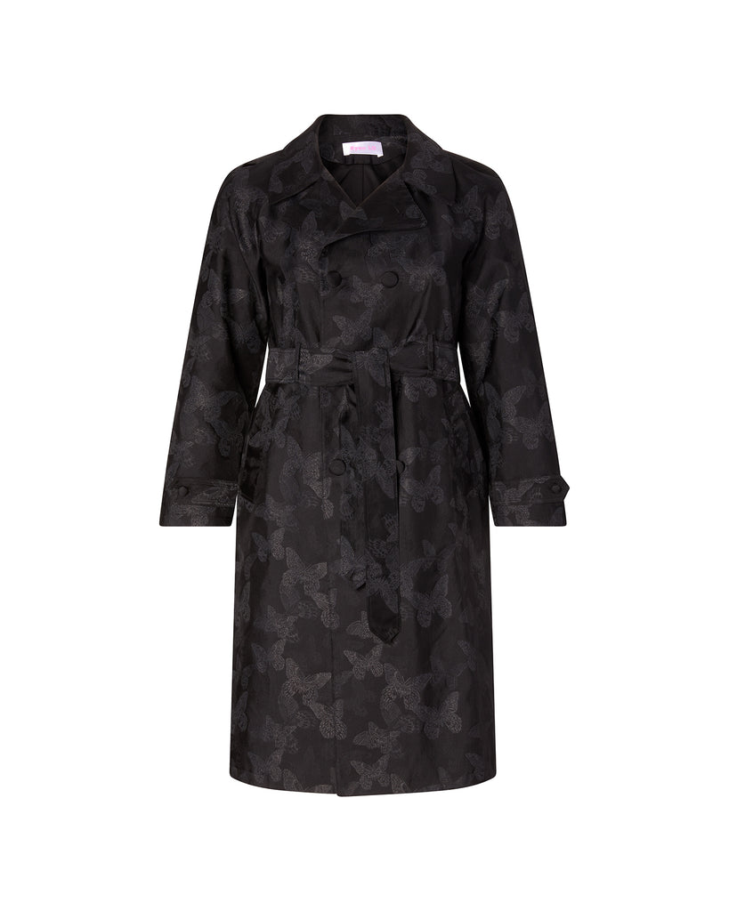 Butterfly Jacquard Trench Coat