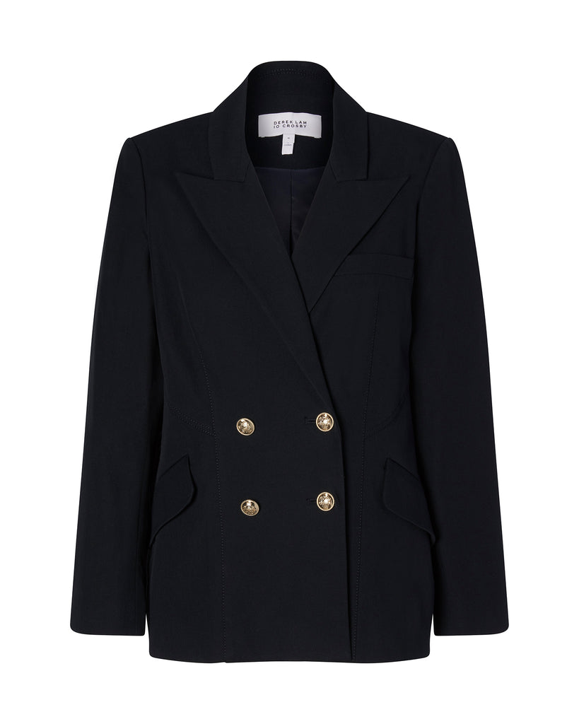 Rodeo Double-Breasted Blazer With Sailor Buttons