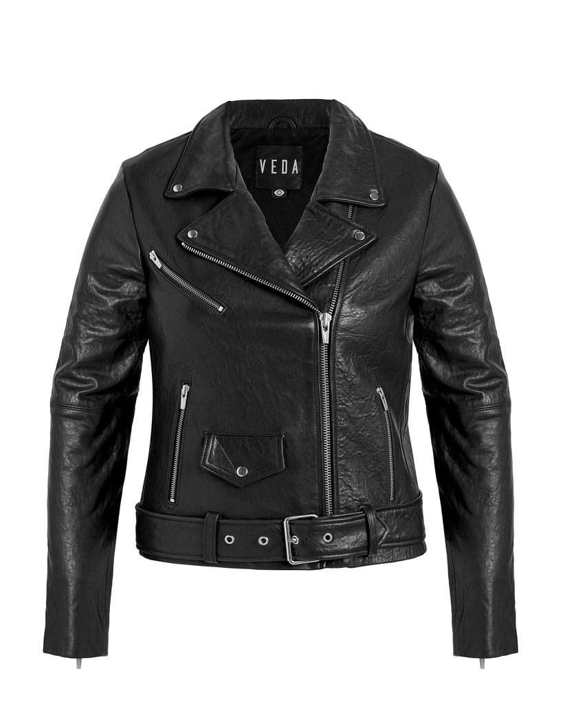Jayne Biker Leather Jacket