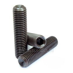 "5/16""-24 - Cup Point Socket Set screws - Alloy Steel w/ Thermal Black Oxide"