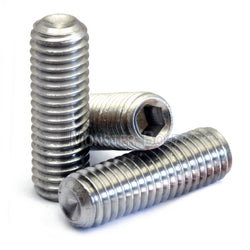 "1/4""-20 - Stainless Steel Cup Point Socket Set screws - A2 / 18-8"