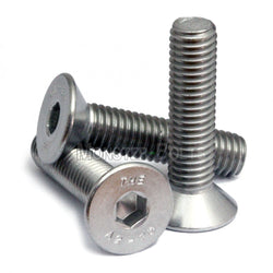"1/4""-20 - Stainless Steel Flat Head Socket Caps screws - 18-8 / A2"