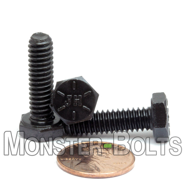 "1/4""-20 - Hex Cap Bolts / screws Grade 8 Alloy Steel w/ Black Oxide"