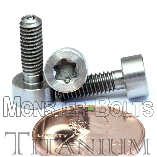 4mm / M4 x 0.7 - TITANIUM TORX SOCKET HEAD Caps screws DIN 912 / ISO 4762