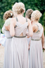 Dusty Bridesmaid Dresses,Long Bridesmaid Dresses,Rustic Bridesmaid Dresses,Gray Bridesmaid Dresses,Fs024