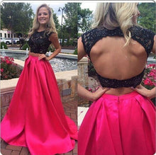 Open Back Prom Dress,Two Piece Prom Dress,Long Prom Dress,Prom Dress For Teens,MA043