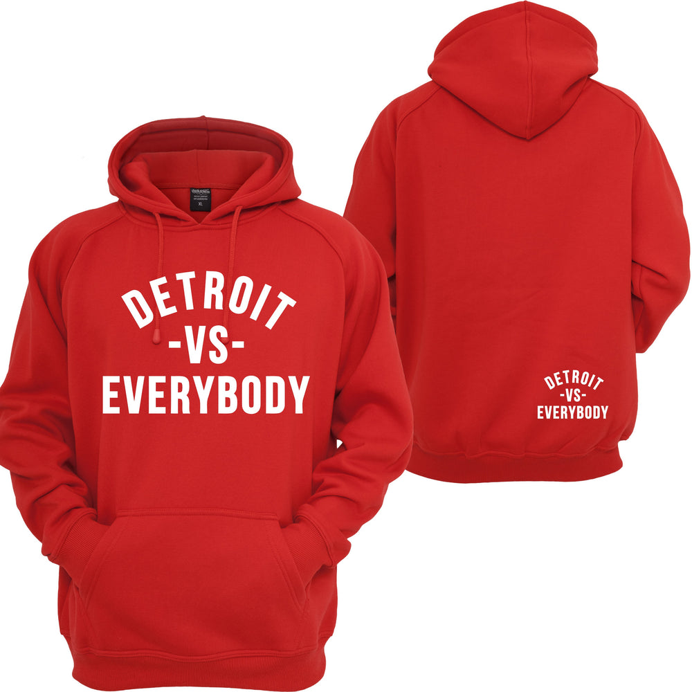 Detroit VS Everybody Hoodie Eminem RAP God Slim Shady Records Hooded Sweatshirt
