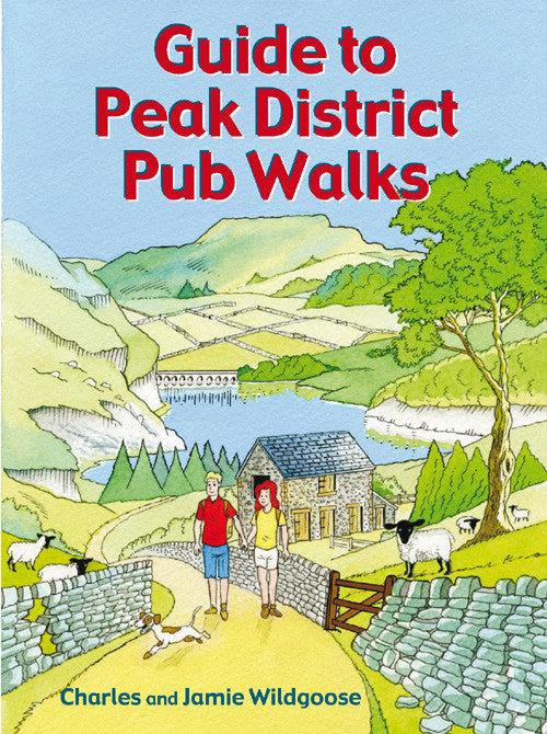 Guide to Peak District Pub Walks book cover. Countryside walks.