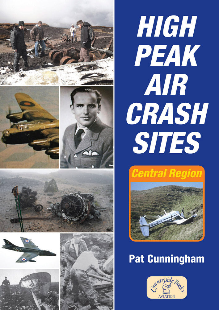 High Peak Air Crash Sites book cover. Peak District.