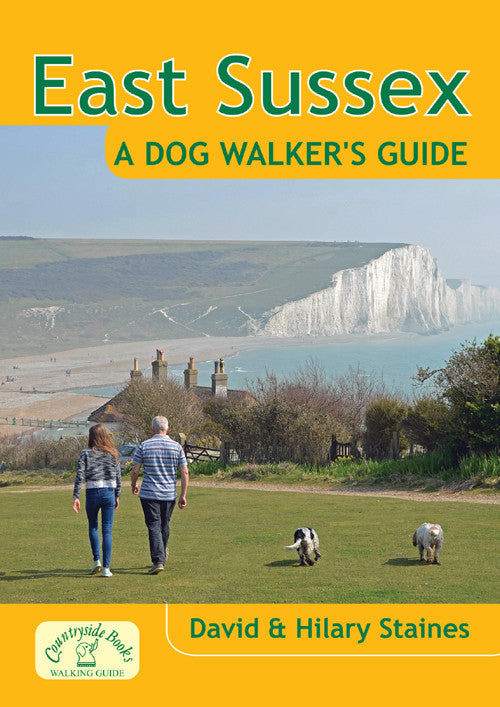 East Sussex A Dog Walker's Guide book cover. Local Dog Walks.