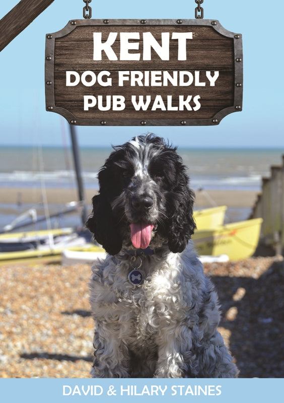Kent Dog Friendly Pub Walks front cover. 20 dog walks