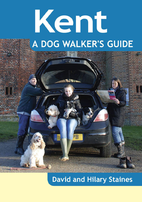 Kent A Dog Walker's Guide book cover. Local Dog Walks.
