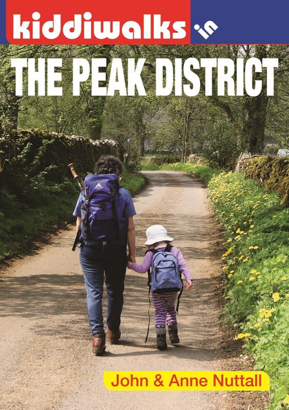 Kiddiwalks in the Peak District book cover. 20 family walks
